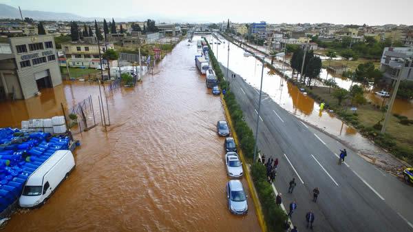 πλημμύρες στη Δυτική Αττική